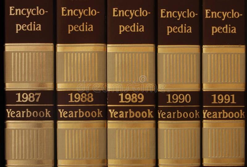 Reeks van encyclopedie royalty-vrije stock fotografie