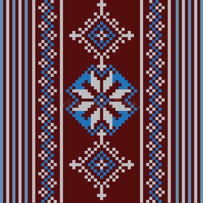 Reeks van Etnisch ornamentpatroon in verschillende kleuren Vector illustratie vector illustratie
