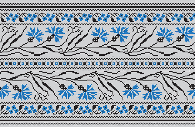 Reeks van Etnisch ornamentpatroon in verschillende kleuren Vector illustratie royalty-vrije illustratie