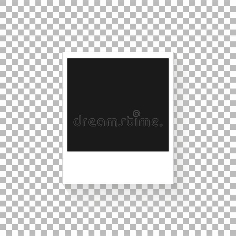 Reeks van foto van het malplaatje retro kader op transparante achtergrond Vectorillustratie voor uw foto's of tekst Plakboekontwe royalty-vrije illustratie
