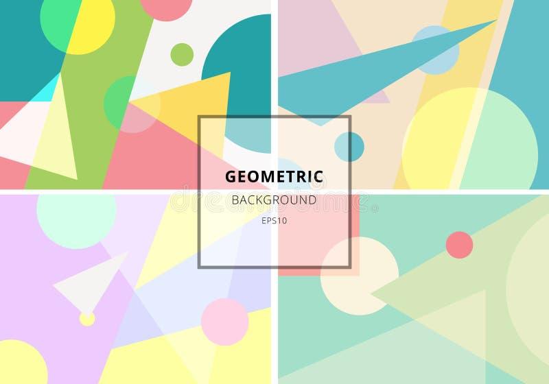 Reeks van in geometrisch de textuurpatroon van de elementen retro stijl Moderne abstracte ontwerpaffiche, dekking, kaart, uitnodi stock illustratie