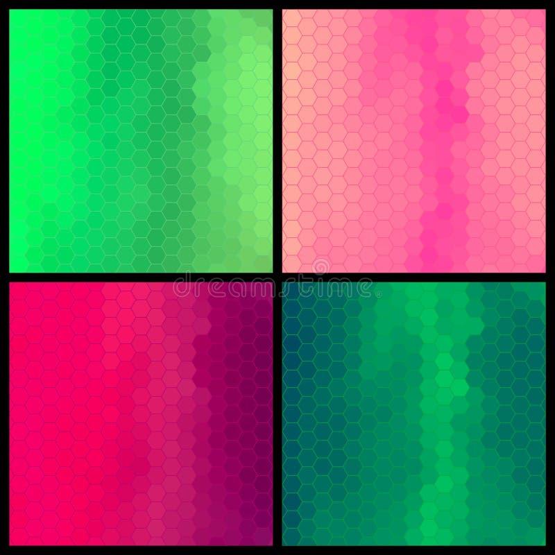 Reeks van geometrisch kleurrijk patroon vier royalty-vrije illustratie
