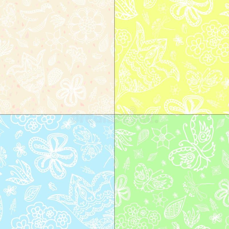 Reeks van geweven vier vector illustratie