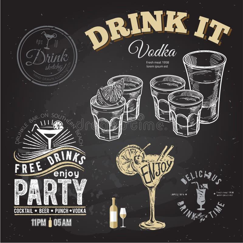 Reeks van gouden die tequila met kalkvruchten wordt geschoten op witte achtergrond royalty-vrije illustratie