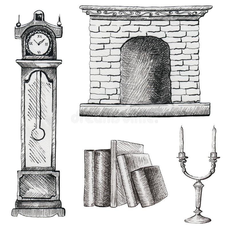 Reeks van grafisch meubilair vector illustratie