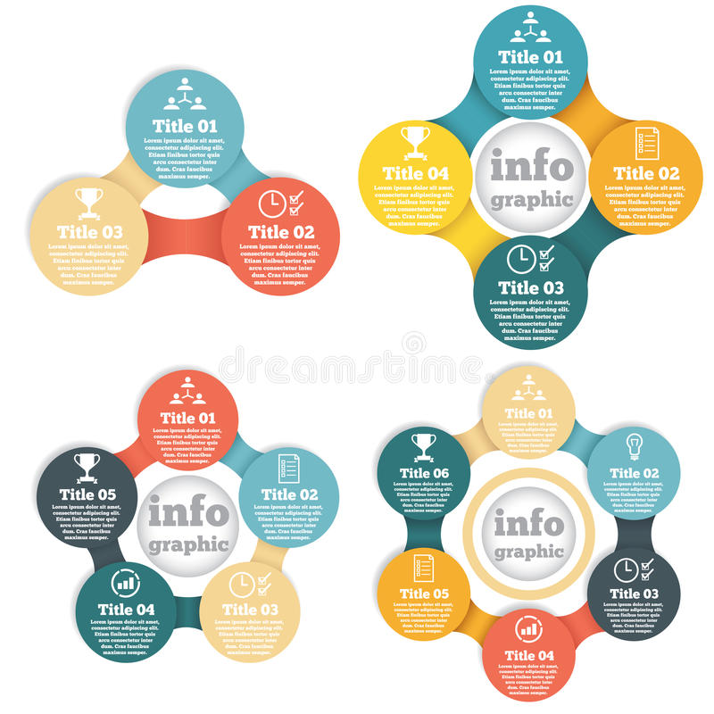 Reeks van grafische zakenkringsinformatie, diagram royalty-vrije illustratie