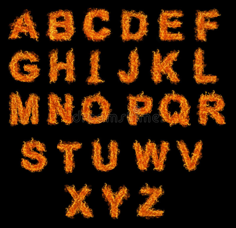 Reeks van het alfabet van de Brand royalty-vrije stock afbeeldingen