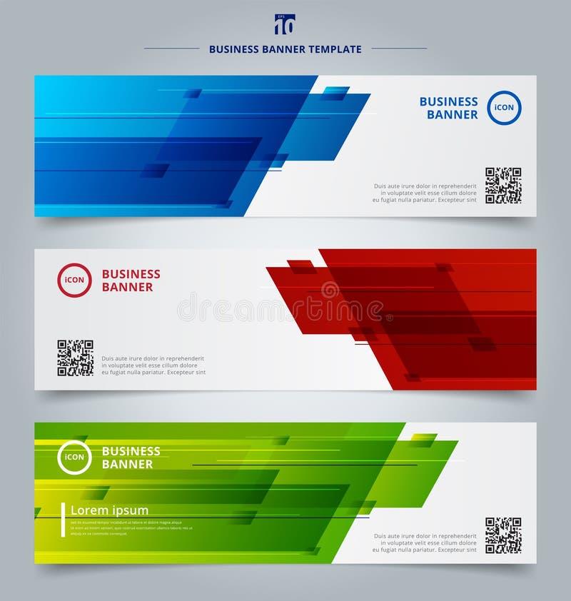 Reeks van van het de kopballenmalplaatje van het bannerweb abstracte het geometrische ontwerpbac vector illustratie