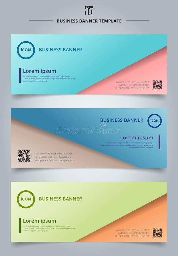 Reeks van het document van het de presentatiemalplaatje van het bannerweb abstract blad ove royalty-vrije illustratie