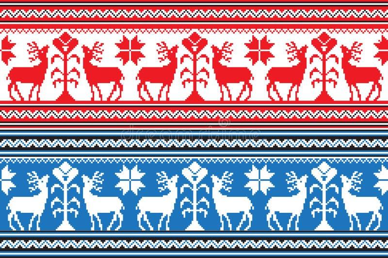 Reeks van het Etnische patroon van het vakantieornament in verschillende kleuren Vector illustratie vector illustratie