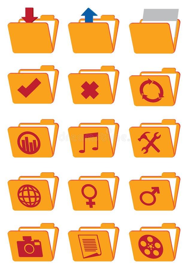 Reeks van het het Webpictogram van de computeromslag de Vector royalty-vrije illustratie