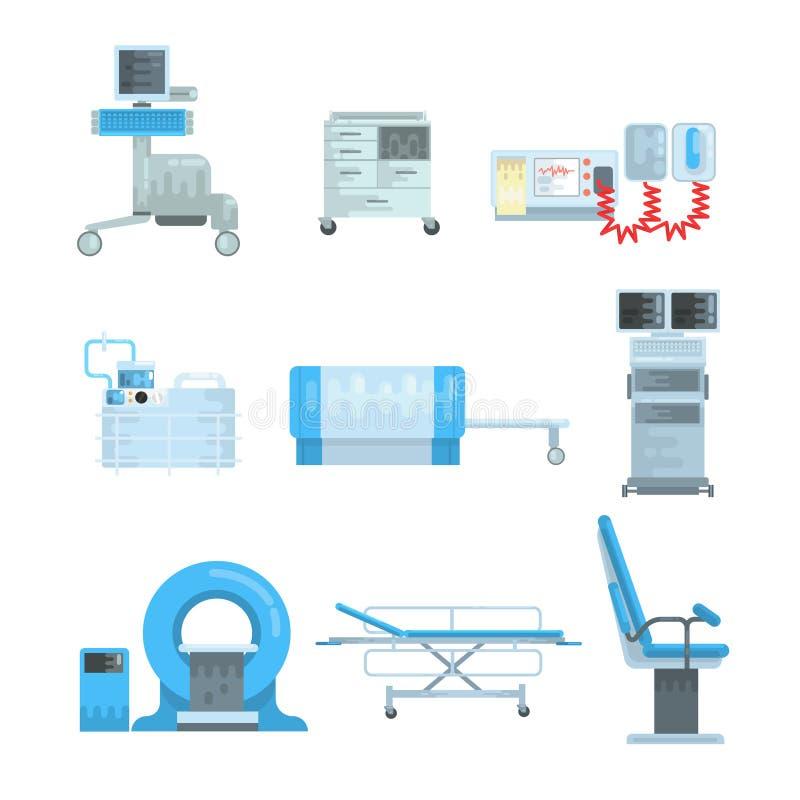Reeks van het Innovational de medische kenmerkende materiaal vectorillustraties royalty-vrije illustratie