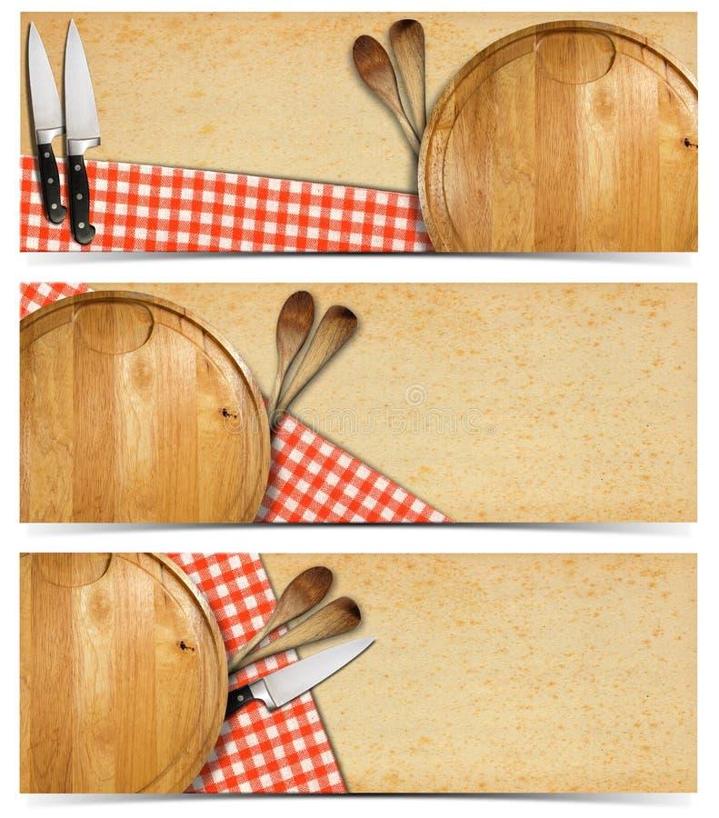 Reeks van het Koken van Banners vector illustratie