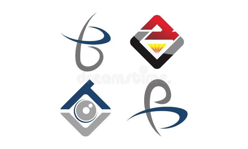 Reeks van het Logotype de Moderne Malplaatje stock illustratie