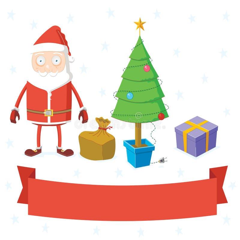 Reeks van het materiaal van Kerstmis vector illustratie