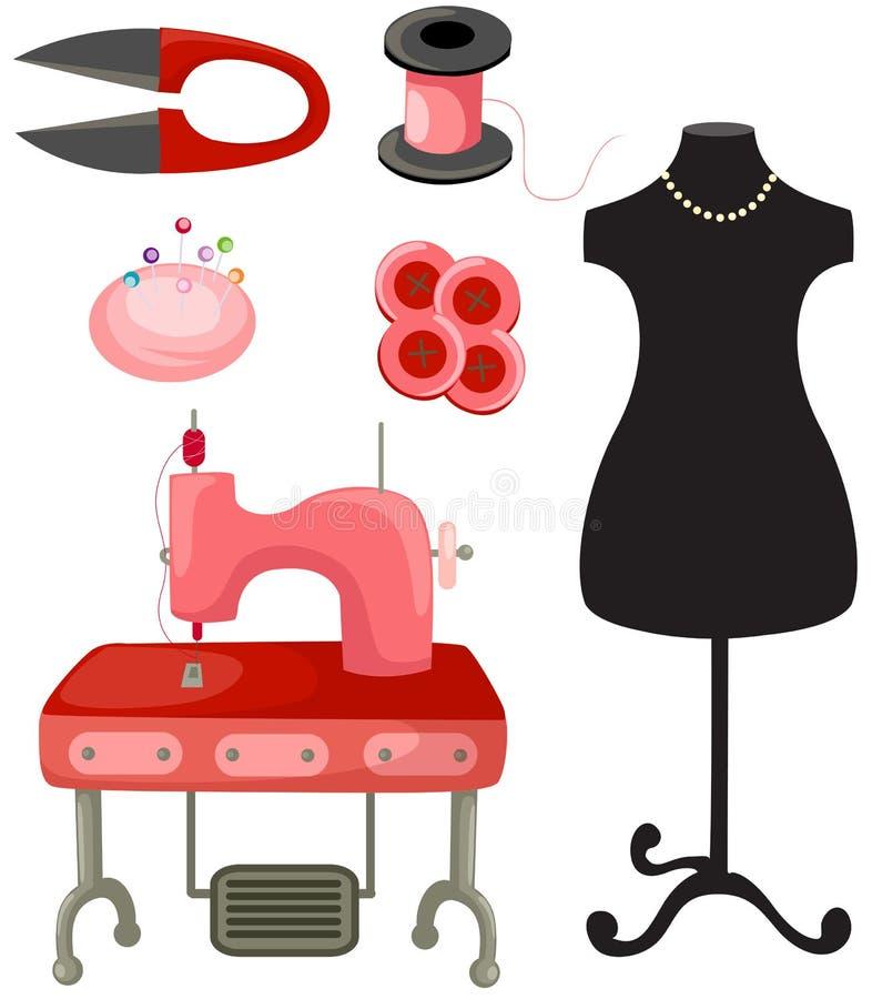 Reeks van het naaien stock illustratie