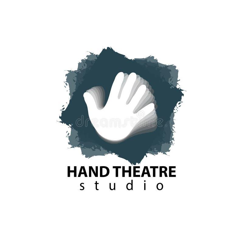 Reeks van het plastic ontwerp van het de studioembleem van het handentheater vector illustratie