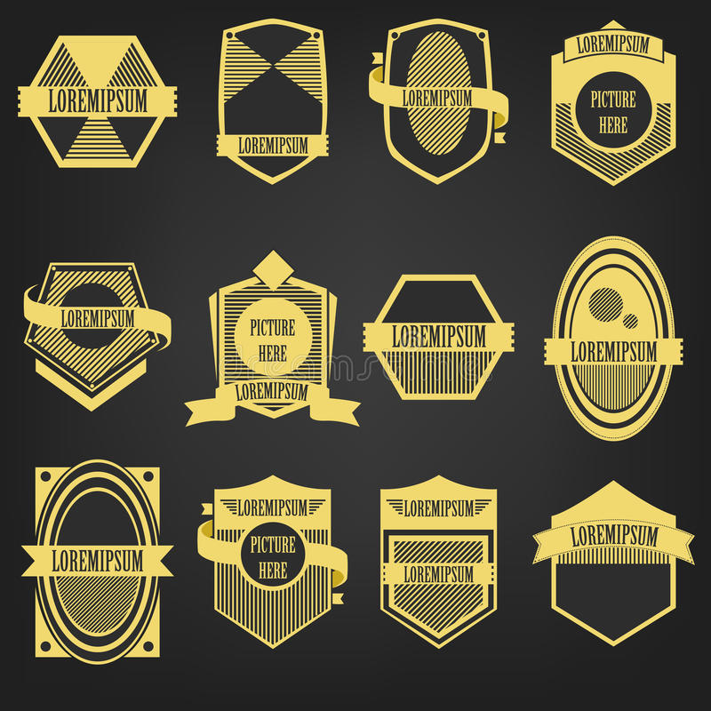 Reeks van het premie de Uitstekende Etiket royalty-vrije illustratie