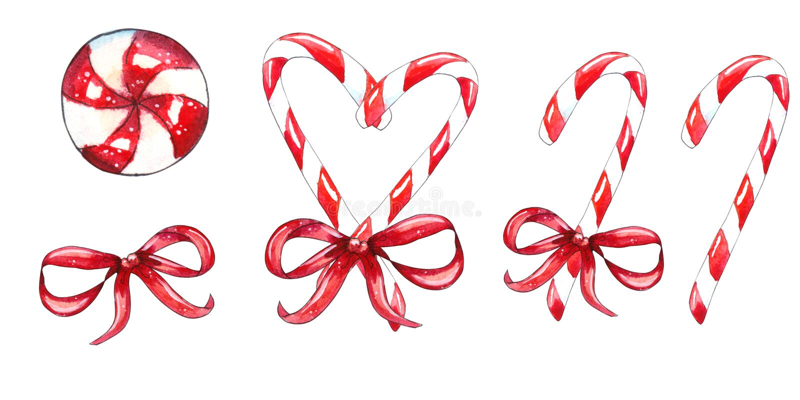 Reeks van het riet van het Kerstmissuikergoed royalty-vrije illustratie