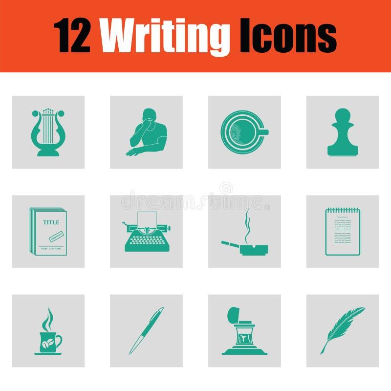 Reeks van het schrijven van pictogrammen stock illustratie