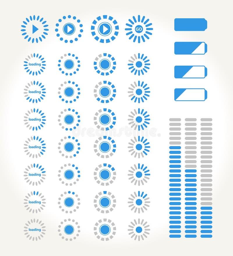 Stromende pictogrammen stock illustratie