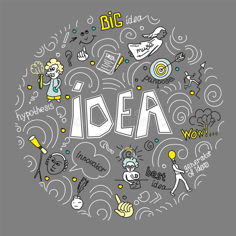 Reeks van het vlakke ontwerp van de conceptenillustratie voor zaken, Financiën, het raadplegen, beheer, analyse, strategie en pla royalty-vrije illustratie
