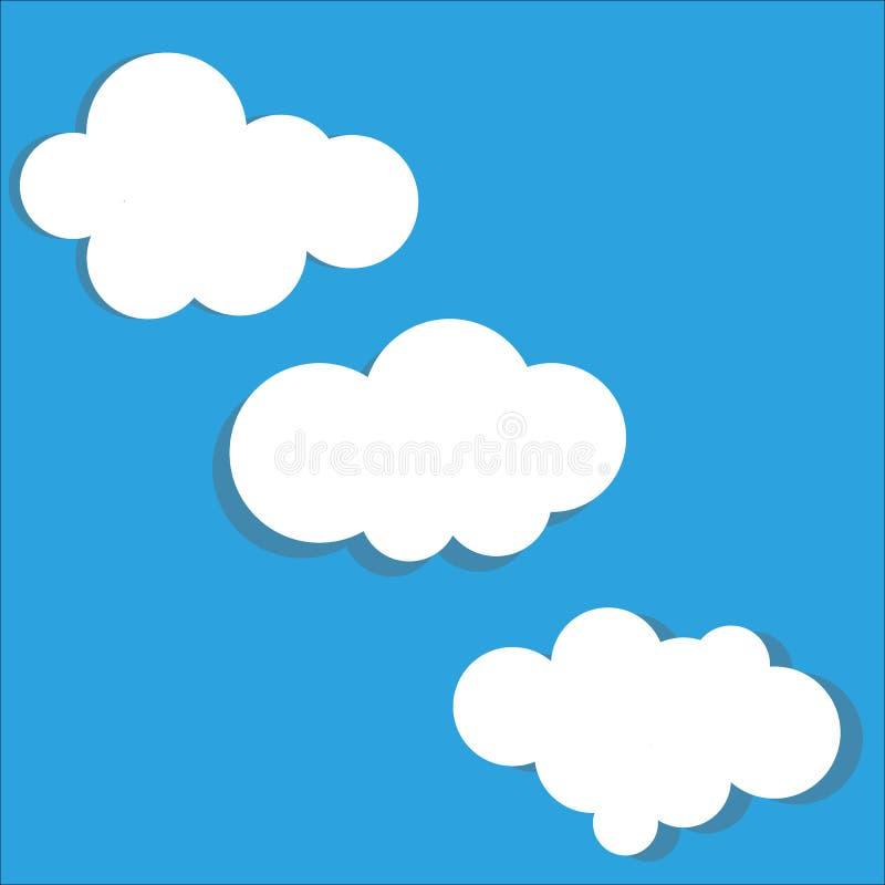 Reeks van het wolken de vectorpictogram vector illustratie