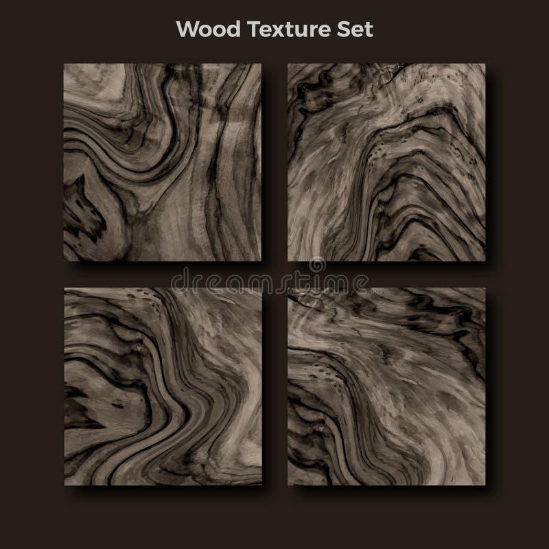 Reeks van houten texturen vectorachtergrond vector illustratie