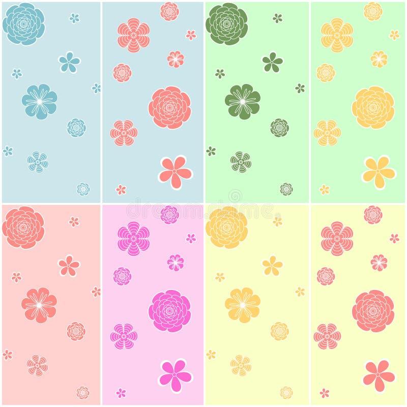 Reeks van kleurrijk naadloos patroon vector illustratie