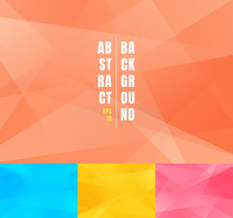 Reeks van lage poly in abstracte achtergrond Modern geometrisch de vormen grafisch ontwerp van driehoeken futuristisch zacht mini stock illustratie