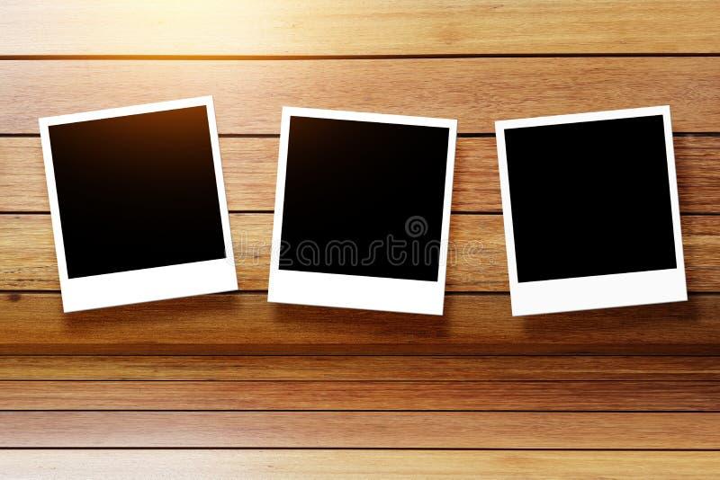 Reeks van leeg Polaroid- fotokader, het lege zwarte scherm en wit vector illustratie