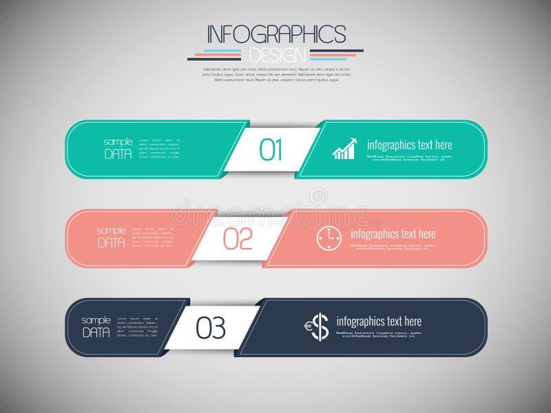 Reeks van 3 moderne ontwerpbanners vector illustratie