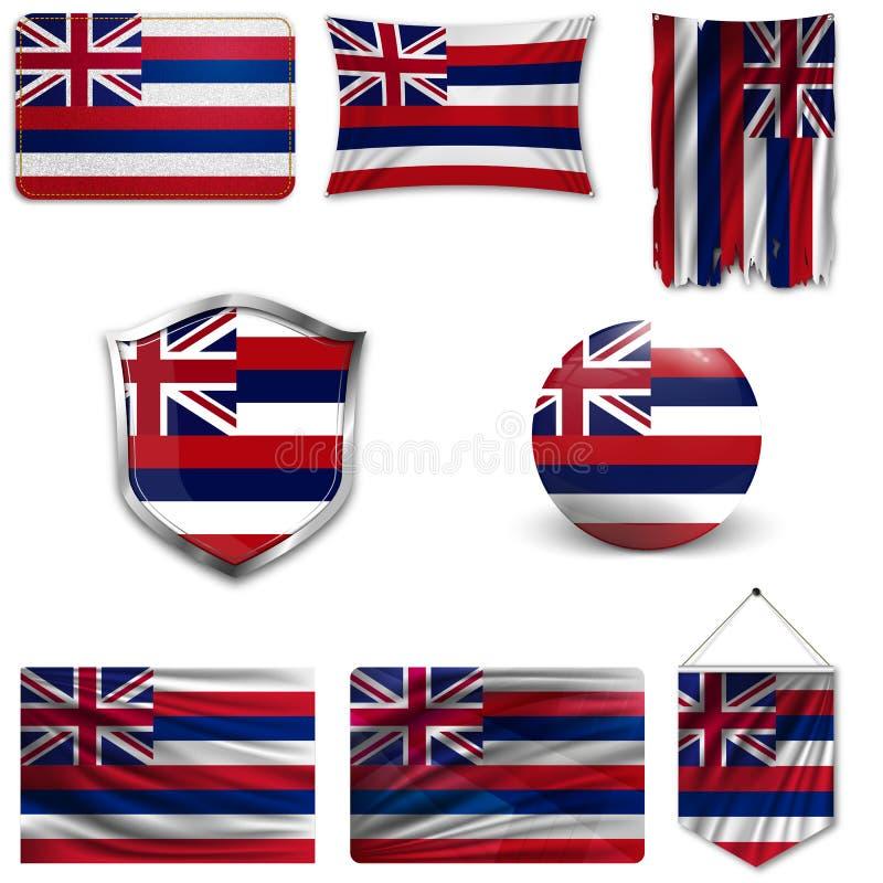 Reeks van nationale vlag stock illustratie