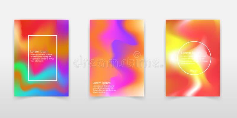 Reeks van neon holografische achtergrond vector illustratie