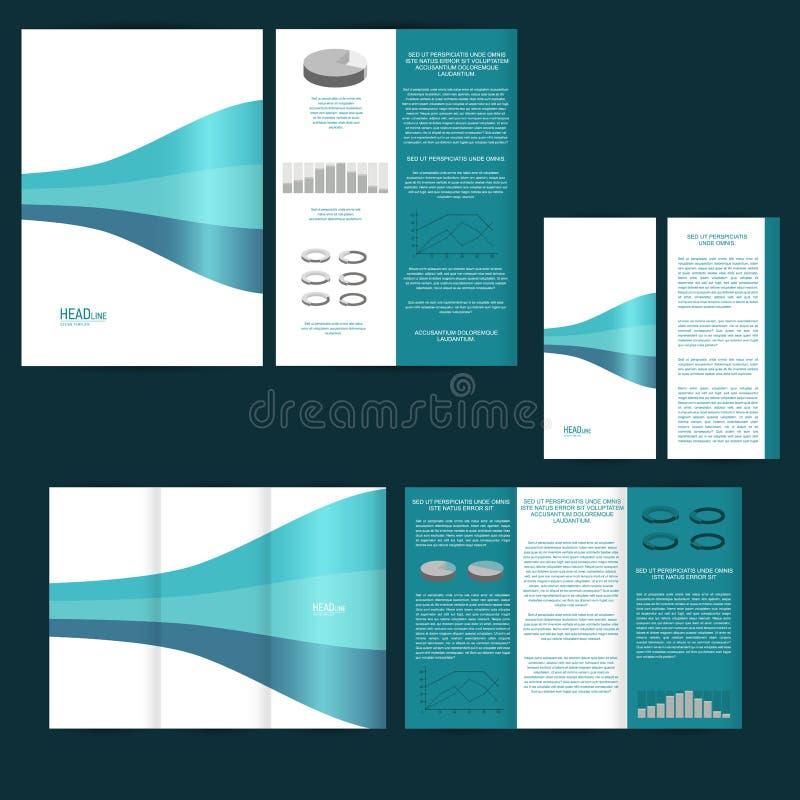 Reeks van ontwerpmalplaatje met vlieger, affiche, brochure Voor reclame, collectieve identiteit, zaken, en andere drukproducten vector illustratie