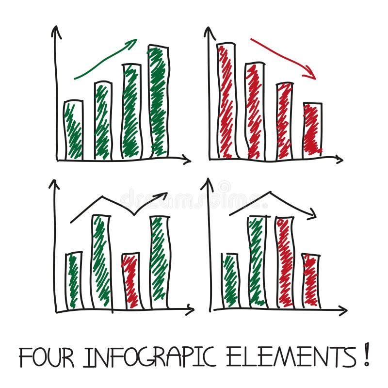 Reeks van onze infographic elementen stock illustratie