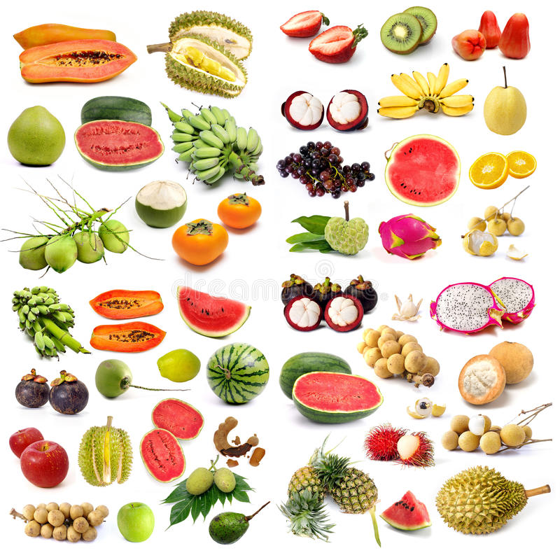 Reeks van organisch fruit royalty-vrije stock foto's