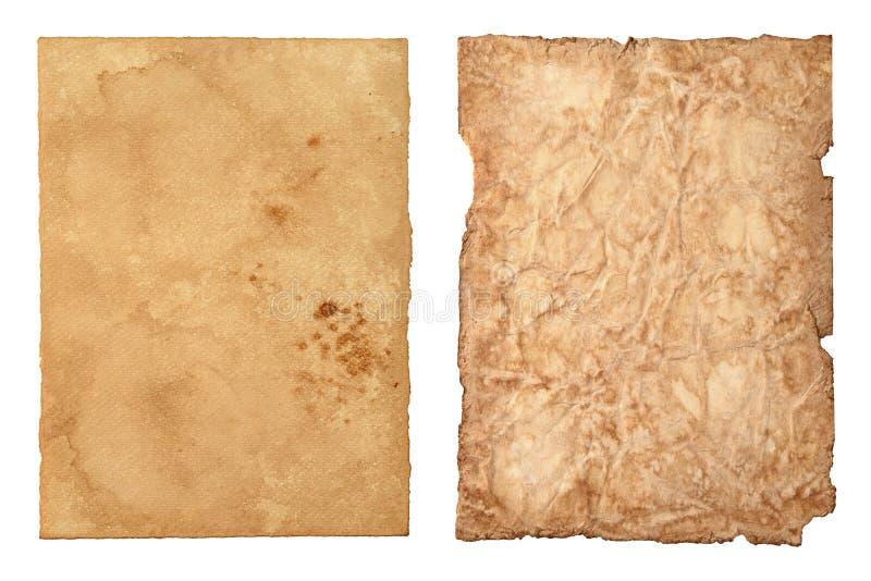 Reeks van oud uitstekend document royalty-vrije illustratie