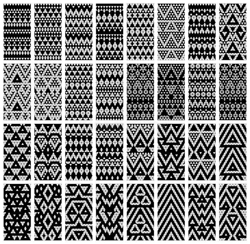 Reeks van 24 patronen. stock illustratie