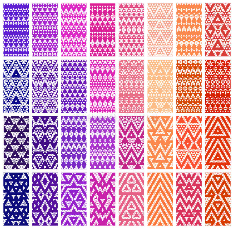 Reeks van 24 patronen stock illustratie