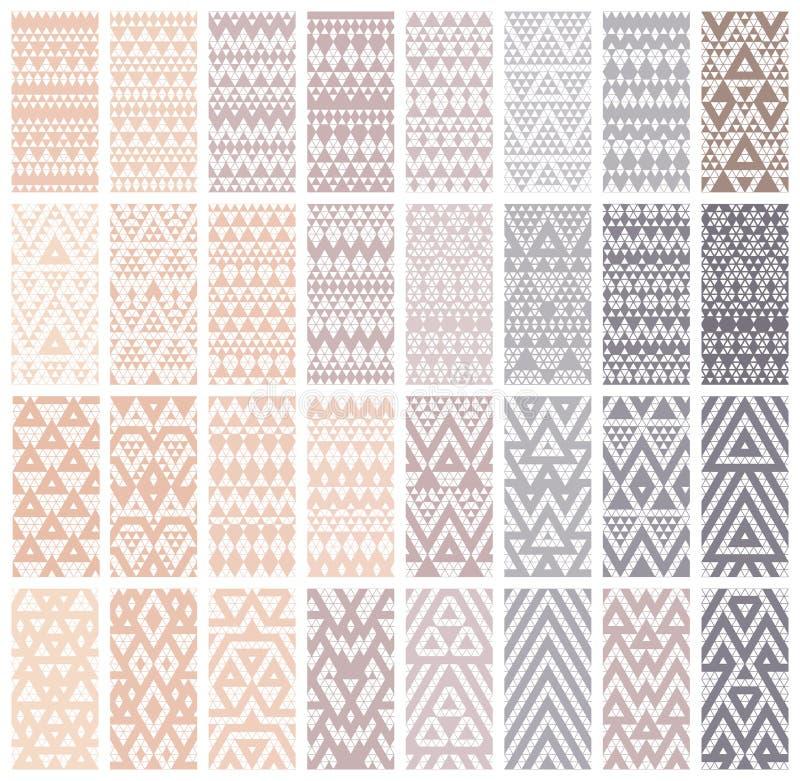 Reeks van 24 patronen vector illustratie