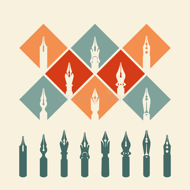 Reeks van pen vector illustratie