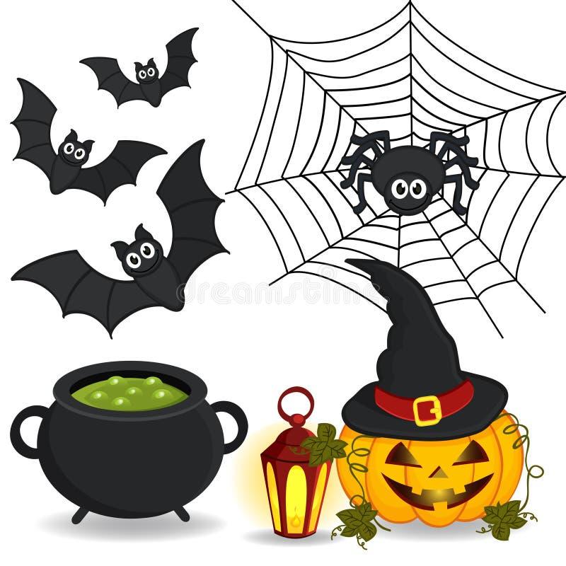 Reeks van pictogram Halloween stock illustratie