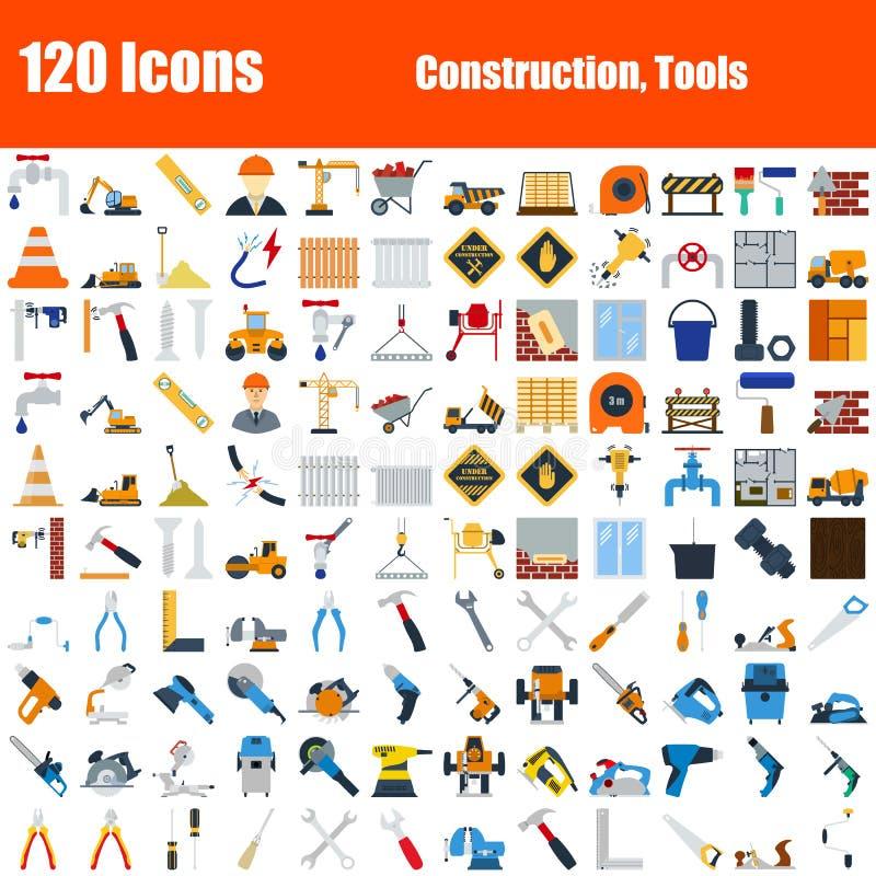 Reeks van 120 pictogrammen vector illustratie