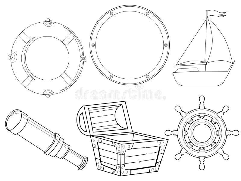 Reeks van piraat royalty-vrije illustratie