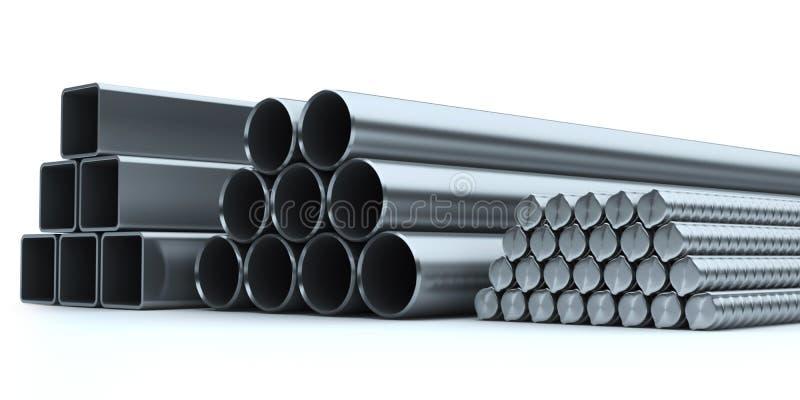 Reeks van roestvrij staal. vector illustratie