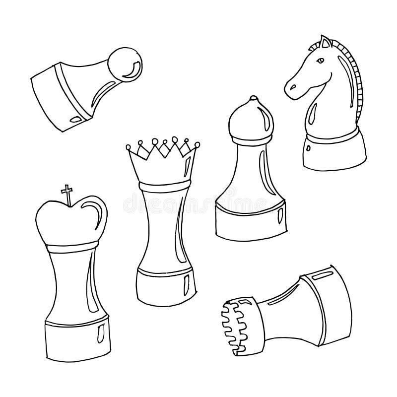 Reeks van schaak royalty-vrije illustratie