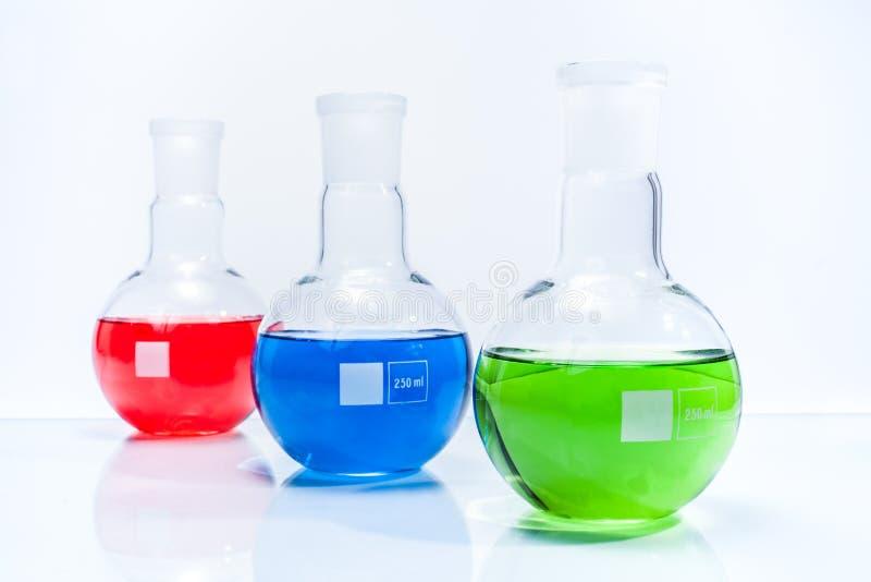 Reeks van sferische vlak gebaseerde fles drie royalty-vrije stock afbeeldingen