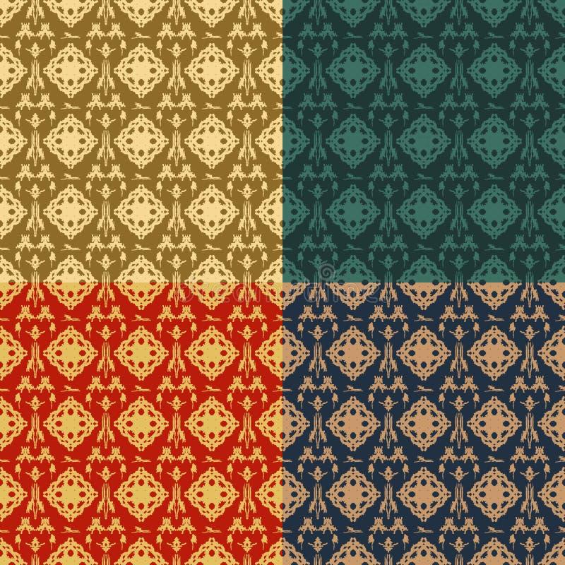 Reeks van sier naadloos patroon vier royalty-vrije illustratie