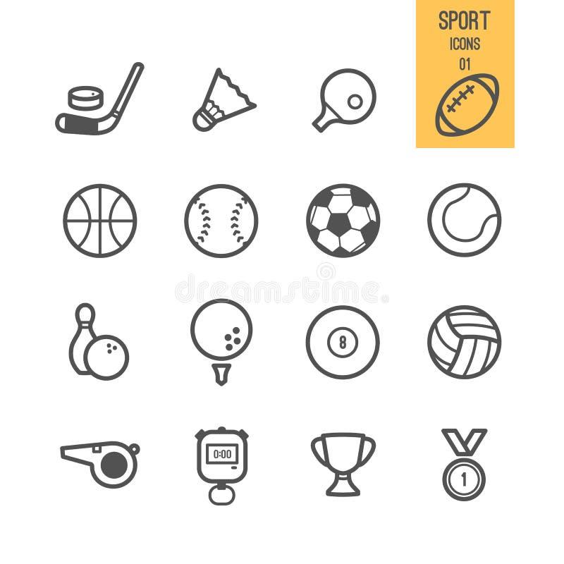 Reeks van sportpictogram vector illustratie